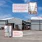 Hangar temporaire détail une