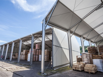 Hangar de stockage en France