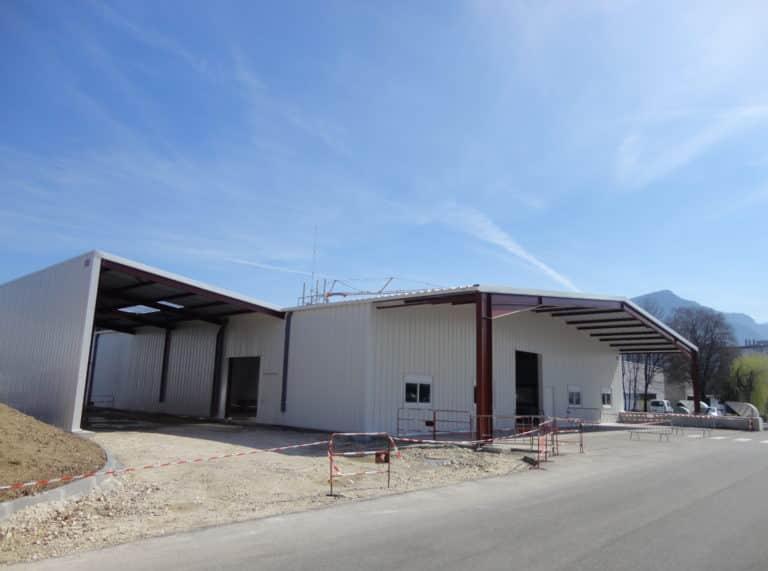 Agrandissement bâtiment stockage, 1487m², achat