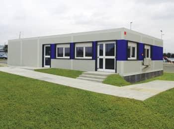Bâtiment modulaire accueil une