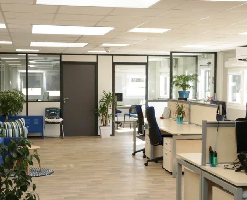 Location bureaux modulaires, 216m², location 48 mois