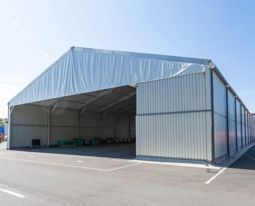 Auvent de stockage, 1250m², location 36 mois