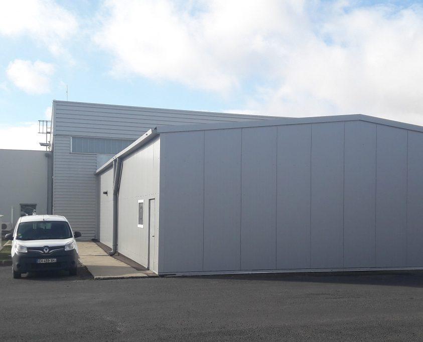 Agrandissement batiment industriel, 245m²,location 24 mois