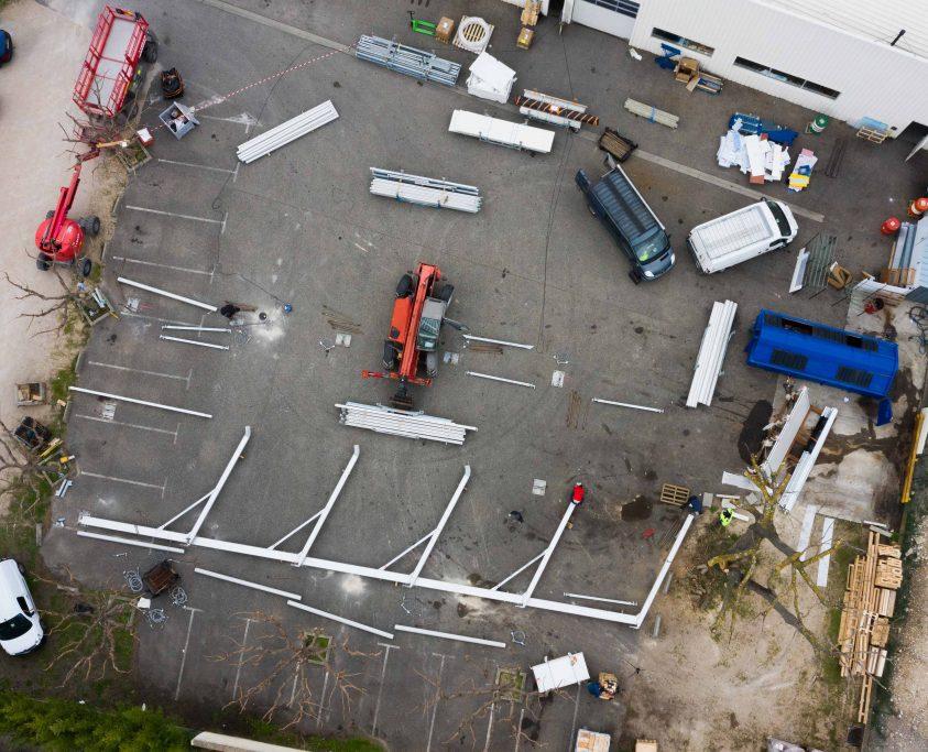 Batiment industriel temporaire, 200m², location 8 mois