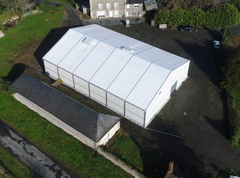 Structure démontable, 600m², location 8 mois