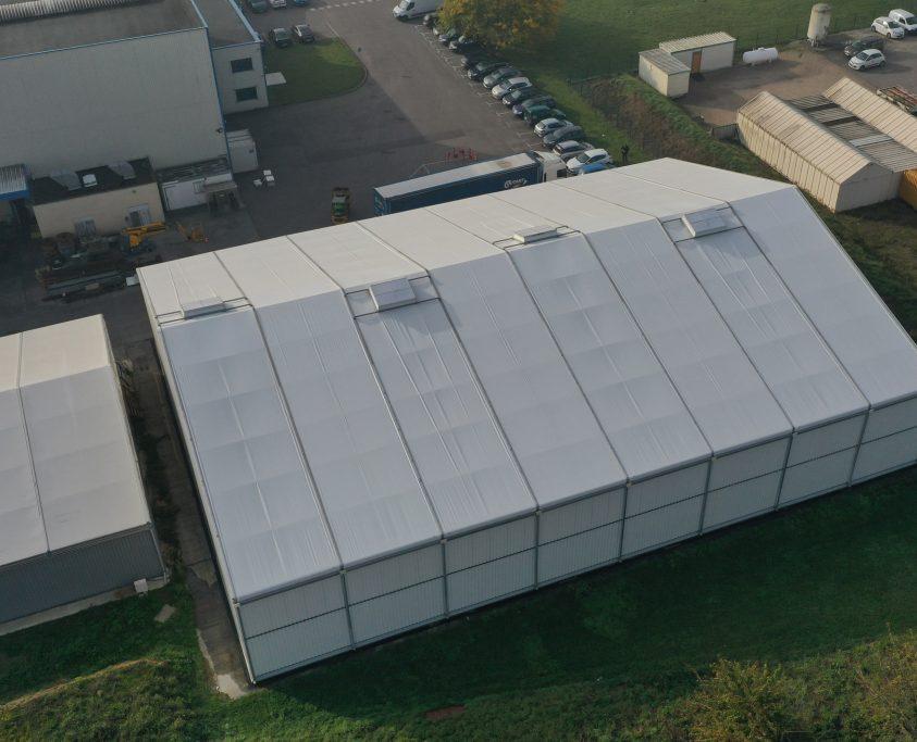Construction démontable, 1200m², location 36 mois