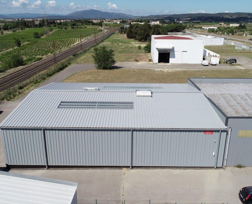 Hangar métallique agrandissement, 500m², location 60 mois
